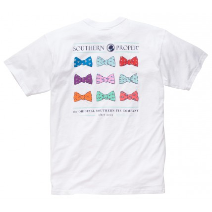 Southern Proper Bowtie Tee - White